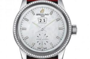 The nice copy Breitling Transocean A1631053 watches have white mother-of-pearl dials.