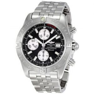 The excellent copy Breitling Galactic Chronograph II A1336410 watches have black dials.