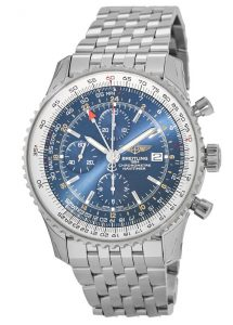 The 46 mm fake Breitling Navitimer A2432212 watches have blue dials.