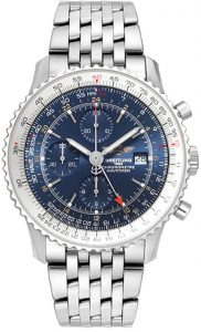 The sturdy replica Breitling Navitimer A2432212 watches are made from stainless steel.
