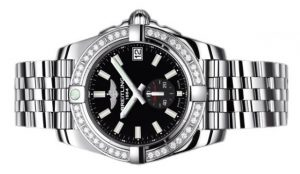 The 37 mm copy Breitling Galactic A3733053 watches are designed for women.