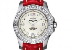The 38 mm copy Breitling Colt A7438953 watches have white dials.