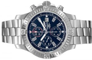 The 48 mm copy Breitling Avenger A1337011 watches have blue dials.