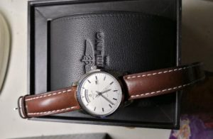 The elegant fake Breitling Transocean A4531012 watches have brown leather straps.