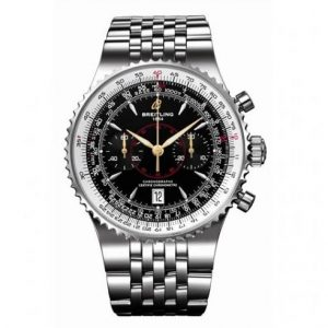 The 47 mm replica Breitling Montbrillant A2334021.B871 watches have black dials.