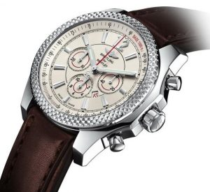 The stainless steel replica Brelting Bentley Barnato watches have small date windows.