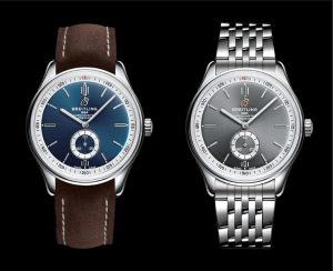 The simple fake Breitling Premier Automatic 40 watches have luminant hour marks and hands.