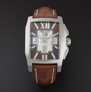 The brown leather straps fake Brelting Bentley Flying B Chronograph watches have brown dials.