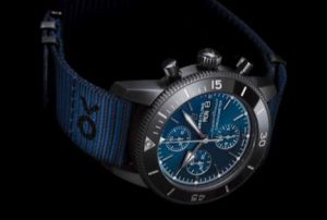 The blue straps copy watches have blue dials.