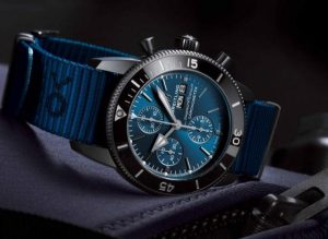 The superb fake watches have blue straps.