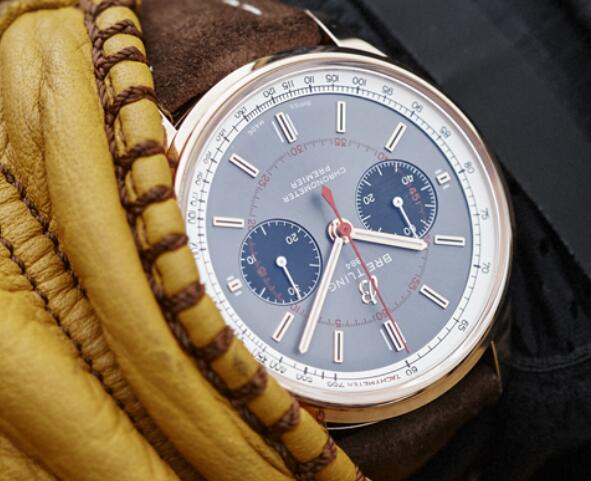 The elements on the dial sport a distinctive look of retro style.