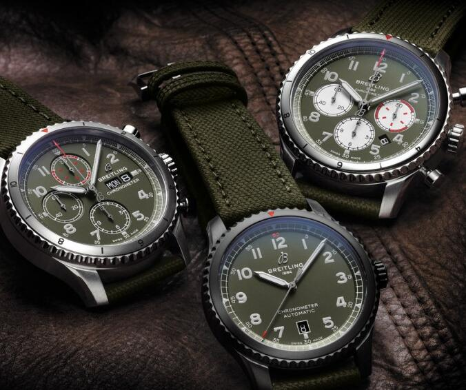 These Breitling Navitimer watches will remind you of the military style.