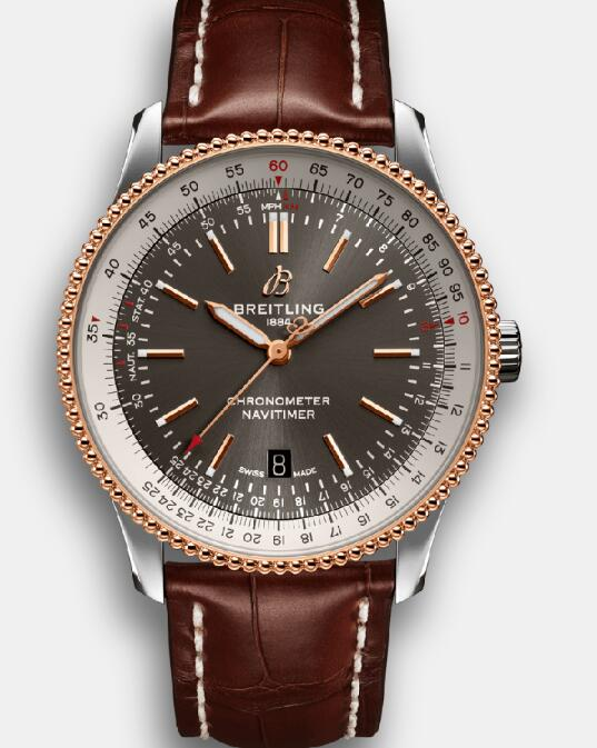 The beads bezel makes this Breitling very recognizable.