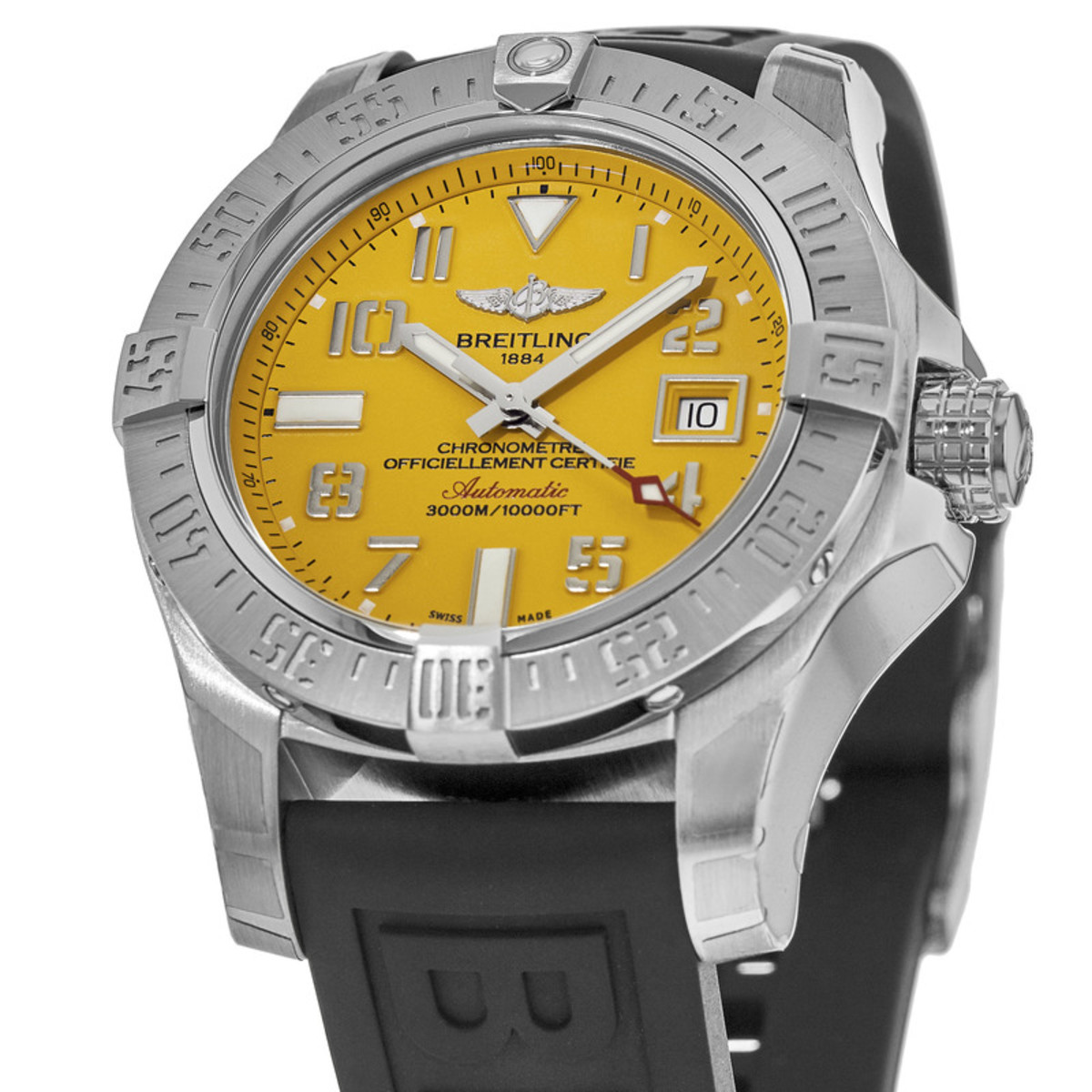 The Arabic numerals hour markers ensure the good readability of cheap fake Breitling.