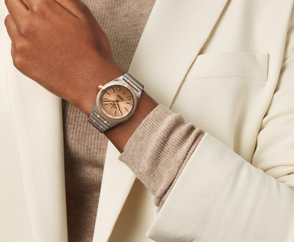 Swiss sale replica watches keep mellow luster with red gold material and copper red color.
