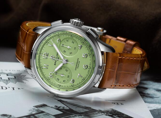 New fake watches are newly designed with light green color.