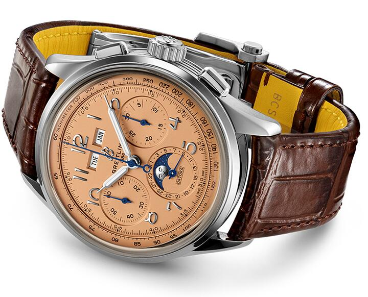 1:1 replica watches are attractive with copper red colored dials.