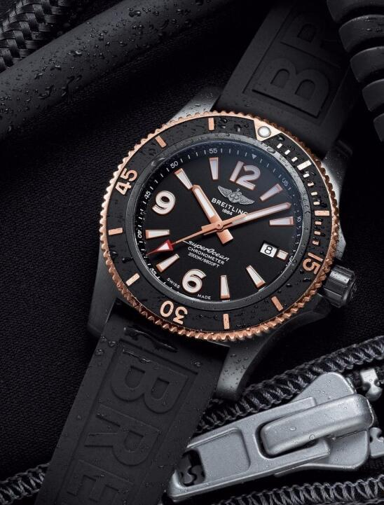 Swiss imitation watches look classic with black colored dials.